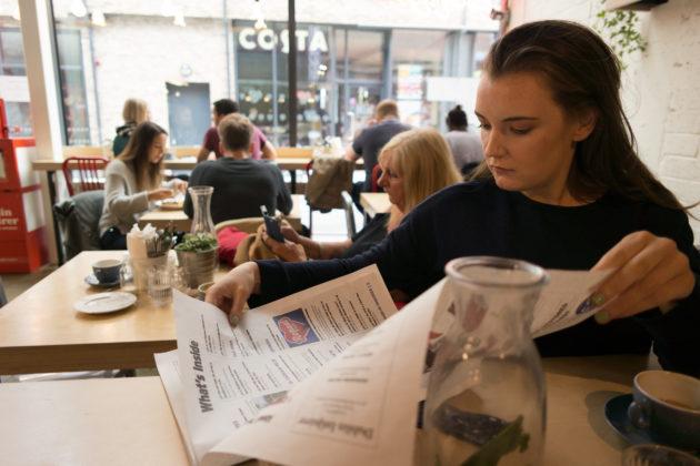 Urbanity Cafe Dublin 7 Newspaper